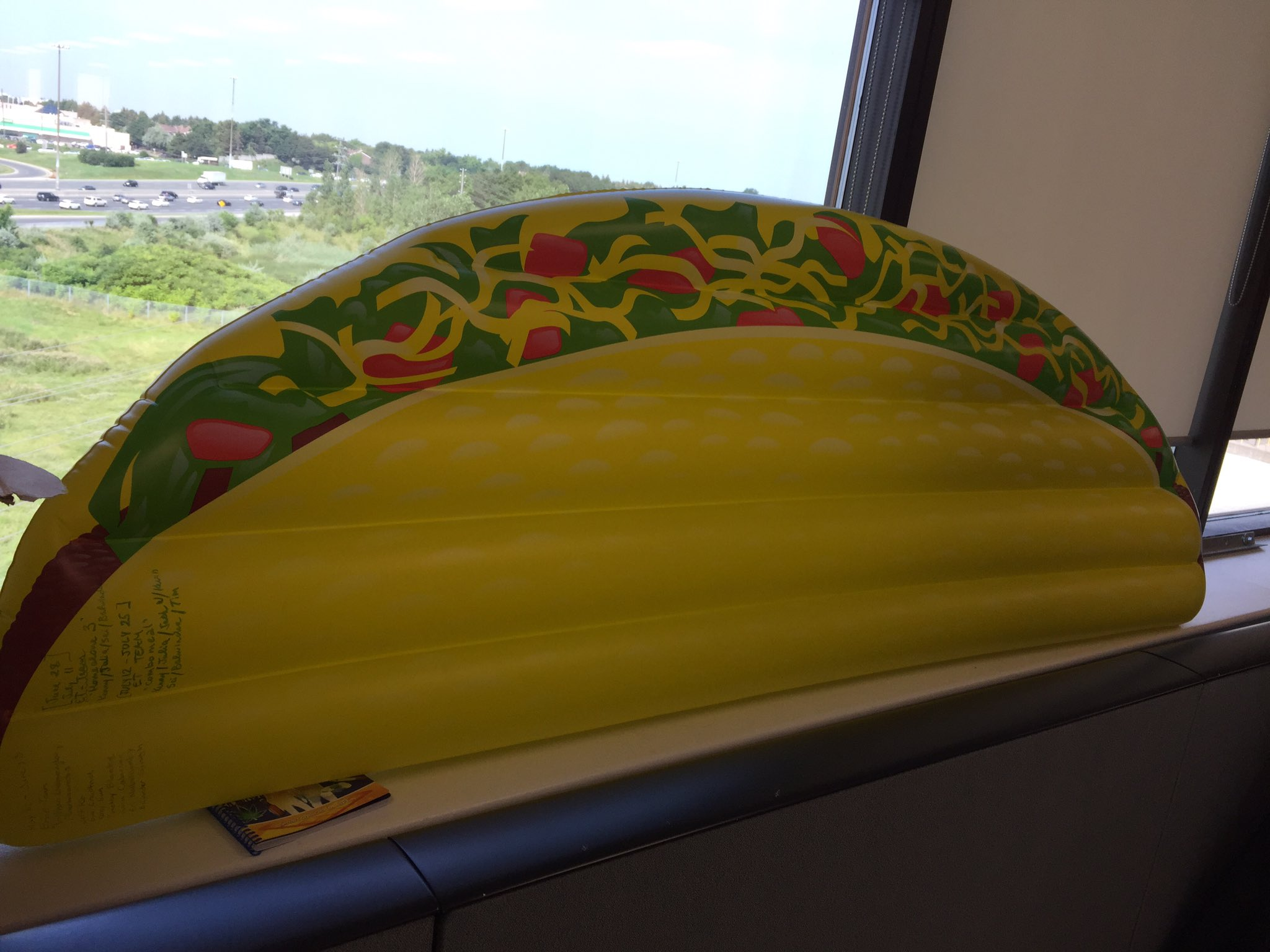 giant inflateable taco