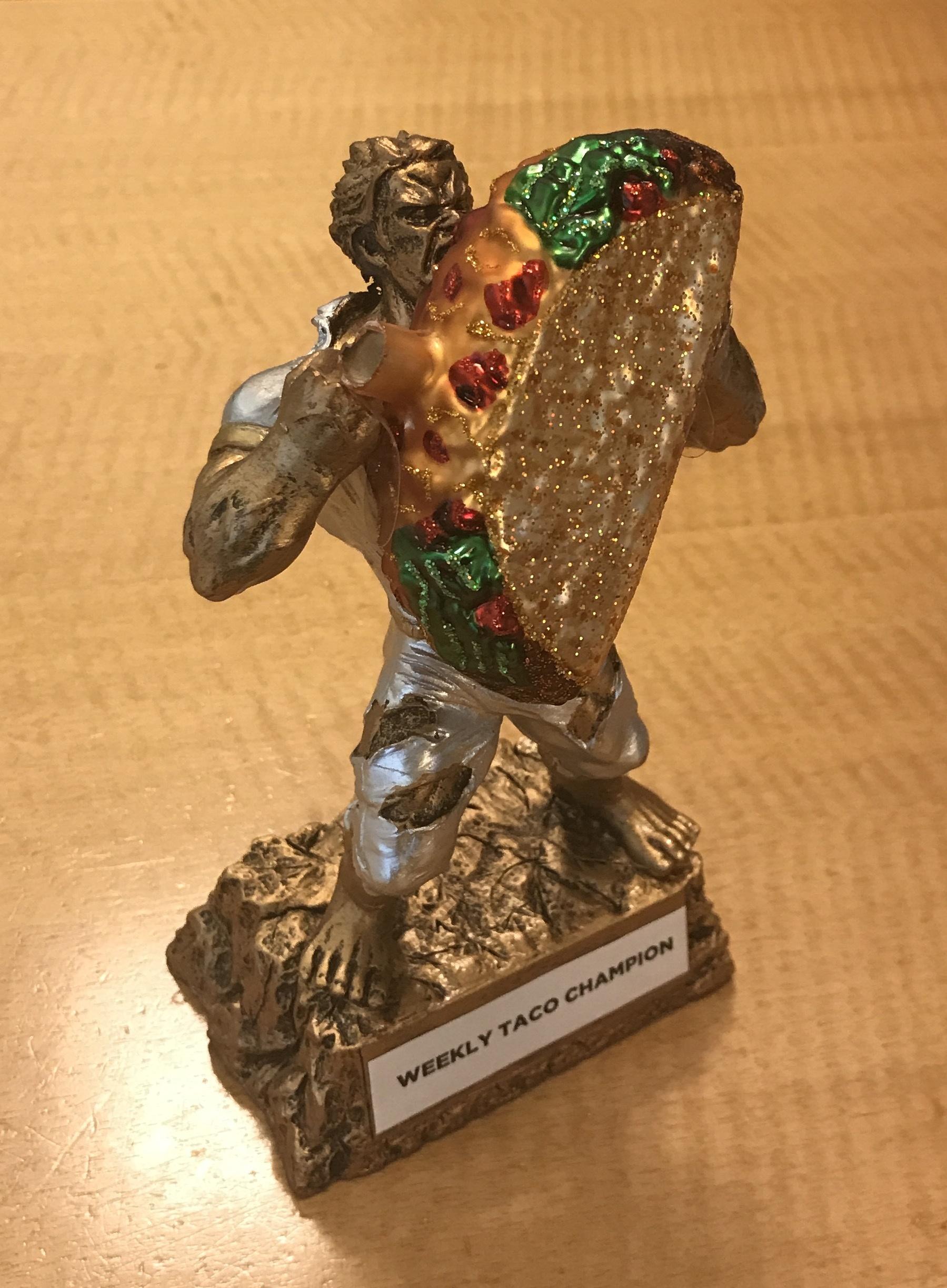 hulk taco trophy NYU Wagner