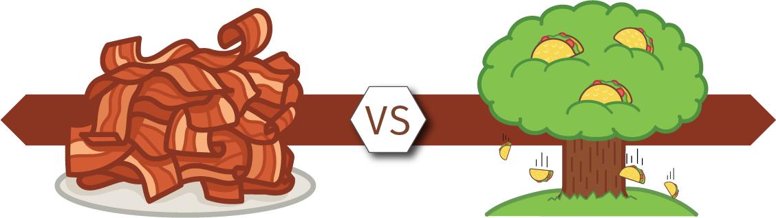 Bacon versus Taco Tree