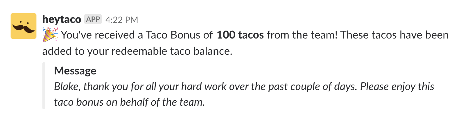 Taco Bonus